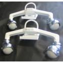 Kit complet pieds blanc certifié d'origine pour radiateur ECD et ECB