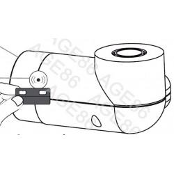 Récepteur Rond X2D pour Seche serviette
