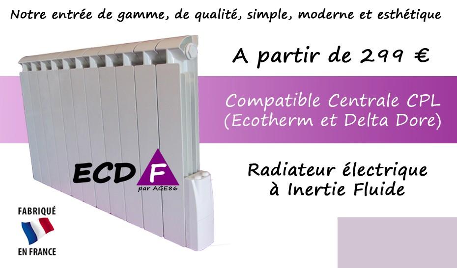 Radiateur ECD-F à Inertie Fluide - Economique, de qualité